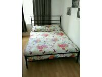 Double bed mattress and frame