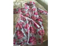Girls monsoon dressing gown 7-8 years