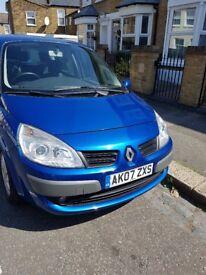 Blue Renault Megane Scenic One Year MOT Petrol Automatic £999 ONO