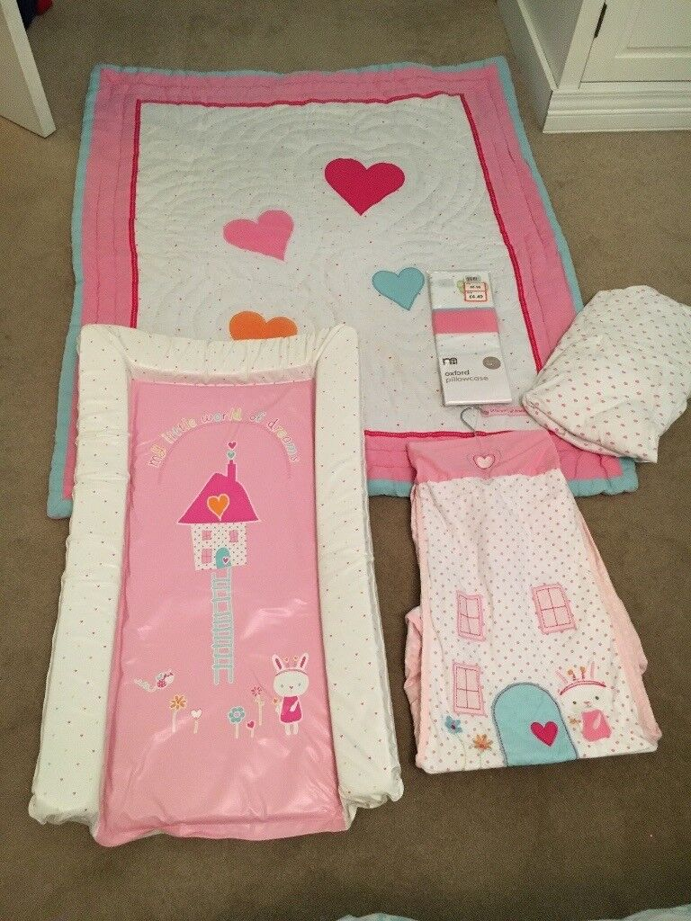 Baby Bedding Set in Pink