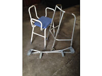 Zimmer farme, Crutches, Stool