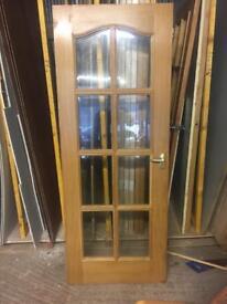 Oak 8 glazed door