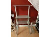 Glass computer table, Very good condition, Very heavy. collect from Chelmsford. £50 tel:07802200567
