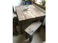 Rustic Table & Stools