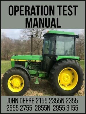 John Deere 2155 2355n 2355 2555 2755 2855n 2955 3155 Tractor Oper. Manual Tm4436