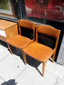 2 retro dining chairs
