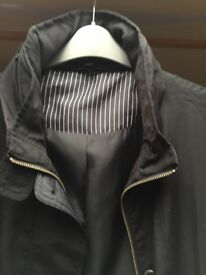 Black M & S Mac with concealed hood. Size 16