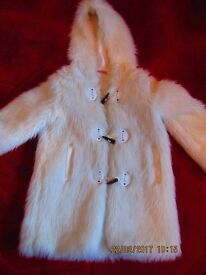 Childs White fur coat