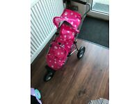 Doll double buggy