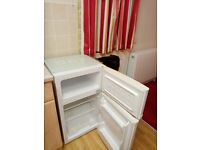 Under counter fridge with small freezer box