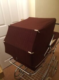 Vintage Made by Marmet- Mothercare Sable Brown Coach Built Pram - Fully Refurb'd
