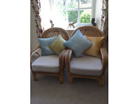 Pair of cane conservatory chairs in great condition - Offers accepted