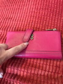 Pink Leather Fossil Purse