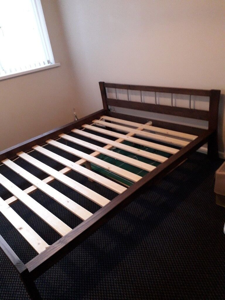 Dark Wooden King Size Bed Frame In Holywood County Down Gumtree