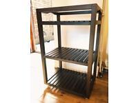 Dark wooden bar cart