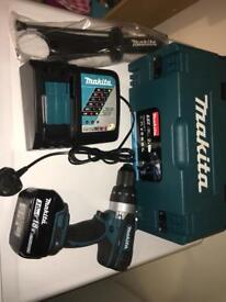 Makita 18v DHP 458 combo drill 3 function new with case and accessories