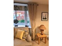 SILK eyelet curtains (DOUBLE WIDTH with 2 layered thermal blackout lining)