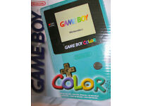 BRAND NEW MINT BOXED - Nintendo Gameboy Color / colour Teal Handheld Console