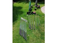 Set of Golf Clubs with Carry Bag and Trolley