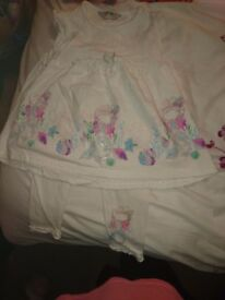 Gorgeous Girl's Mermaid Design Leggings & Tunic Set, size 2-3 years, excellent condition