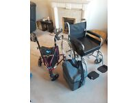 Lightweight Wheelchair with deep cushion. Powerstroll, lightweight triwalker