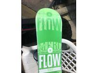 """Merc Flow 153"""" snowboard and Flow bindings"""