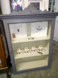 Lovely vintage glass display cabinet