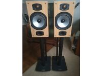 Monitor Audio Bronze B2 speakers plus stands and cable