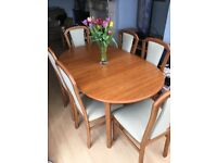 Extending dining table & 6 chairs - cheap!!!