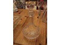 Glass Decanter. Rounded base