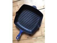 Le Creuset 22cm grill/griddle pan