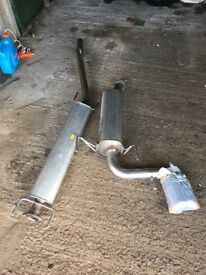 Vxr Astra h stainless steel exhaust middle and back box