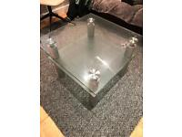 Square Glass Table x 2