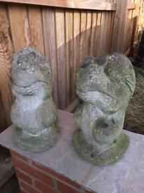 Squirrel Garden Concrete Ornaments