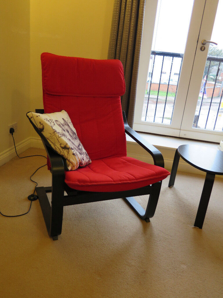 Comfy ikea poang chair in market harborough for Ikea comfy chair
