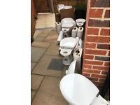 Bathroom wash basins and toilets