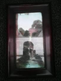 INGLETON B.DAVIS OIL PAINTING ON GLASS