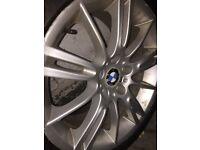 "GENUINE BMW 3 SERIES 18"" INCH RIM & RUN FLAT-TYRE (inside little crack) 255-40-18"