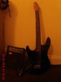 Guitar ASHTON, left-handed, electronic tuner built, BRADFORD, 22 frets