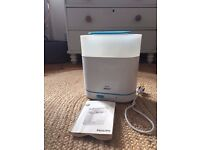 Used Philips Avent 3 in 1 electric steriliser, good condition