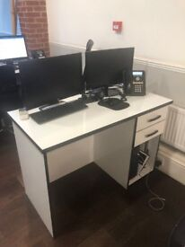 5 Gloss White Desks FREE - COLLECTION ONLY
