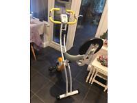 Nearly new ultrasport F home fitness bike with backrest