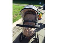Excellent condition Stone coloured mothercare my4 travel system