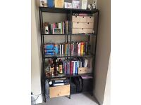 Metal and Glass Bookcase / Shelving Unit