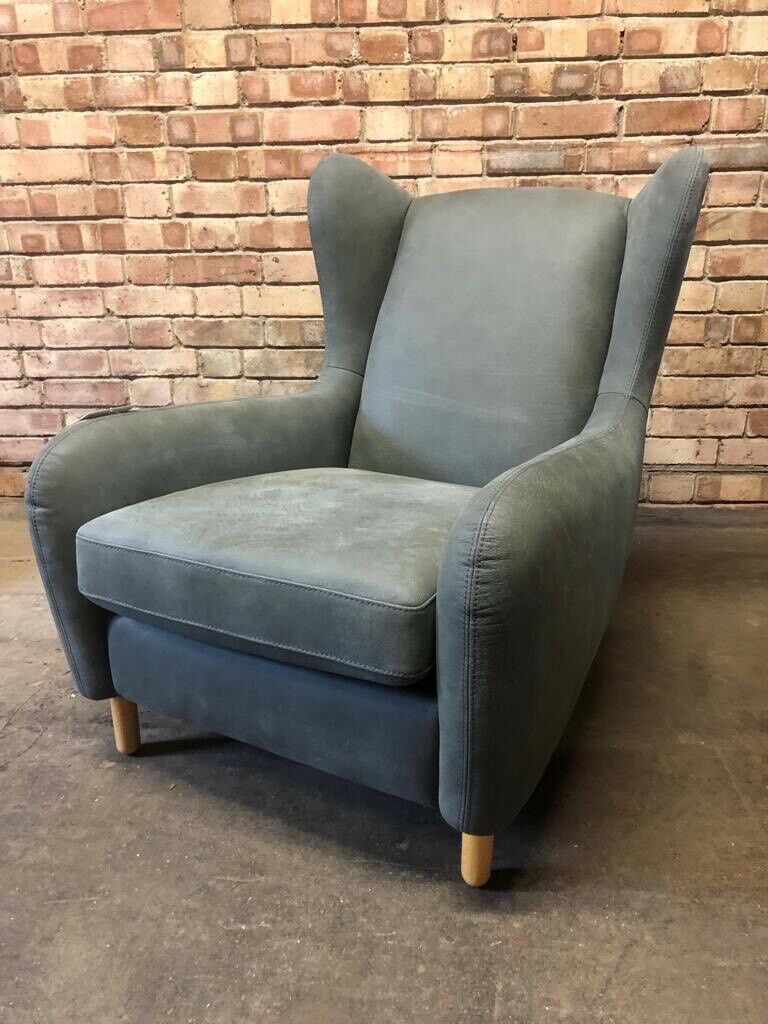 Peachy Made Rubens Wingback Chair In Pavillion Grey Leather Rrp 649 Sold In Kelvedon Essex Gumtree Machost Co Dining Chair Design Ideas Machostcouk
