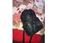 Micheal Kors blue/camo unisex backpack