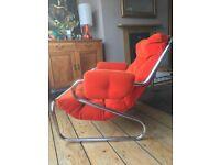 Stunning 1970's Scandinavian sprung chair original upholstery