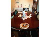 Posting for dad . Extending table 6 chairs also cabinet all together