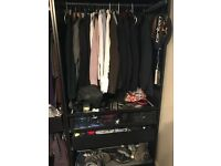 Ikea Wardrobe - Custom Pax with Pull out shoe rack, 2 drawers