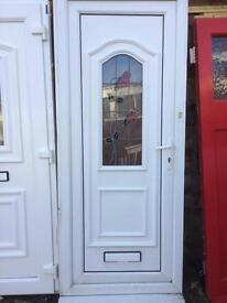 Door, white pvcu, size 860 x 2080, £50.00